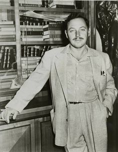 Promotional photo of Tennessee Williams for 'Cat on a Hot Tin Roof', ca. 1955, Billy Rose Theatre Collection.