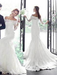 lace long sleeve wedding dress!