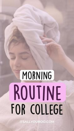 College Morning Routine, Morning Work, Sunday Morning, Student Goals, Have A Shower, 7 Habits, Life Advice, Motivational Quotes, Positivity