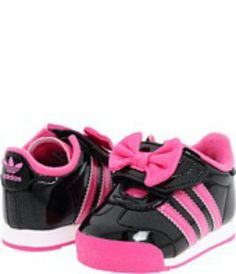i m not a fan of my kids wearing character (themed) clothes   shoes but  these minnie mouse adidas are ADORABLE! 6c5134a862