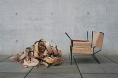 'sibirjak' by anastasiya koshcheeva is a contemporary lounge chair and ottoman furniture set made of water-repellant and antibacterial birchbark. Ottoman Furniture, Chair And Ottoman, Armchair, Furniture Design, Moving Furniture, Supreme Furniture, Nachhaltiges Design, 2020 Design, Design Concepts
