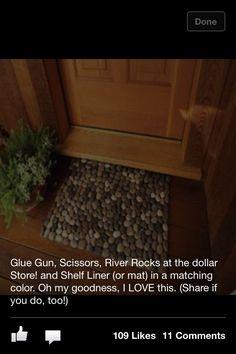 Pebble door mat