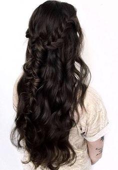bridal hairstyle idea   bridal braids   half up bridal hairstyle   more wedding inspiration & wedding ideas @danellesbridal danellesboutique.com