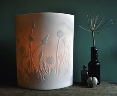 Porcelain Lamps by AmyCooperCeramics - I want the whole range! Would be a lovely night light for kids.