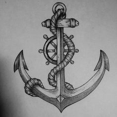 If you are looking for a tattoo to show your passion for the sea, then look into the anchor tattoos. Anchor tattoo designs have been around for hundreds of years; Marine Tattoos, Navy Tattoos, Tattoos For Guys, Tattoos For Women, Tattoo Black, Rad Tattoo, Cool Tattoos, Tatoos, Bird Tattoos