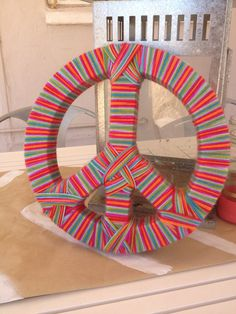 MultiColor Peace Sign by Likehearted on Etsy, $10.00