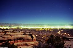 Grand Junction at dusk from the Colorado National Monument