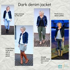 If you feel way too masculine wearing a denim jacket, just add a fine necklace for a big hit of feminine. Casual Summer Outfits For Women, Summer Dress Outfits, Cute Outfits, Casual Outfits, Edgy Photography, Clothing Photography, Photography Outfits, Wardrobe Systems, Minimal Dress