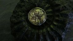 Landkarte, Druckknopf/Chunk/Button von Humlebis Hytte auf DaWanda.com