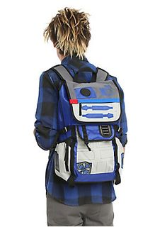 "<p>Superior quality backpack from <i>Star Wars</i> highly detailed R2-D2 design. Provides durability, tech pocket storage, utility straps and internal organization. Zip closures, side container and zip pockets, web haul loop and padded back and adjustable straps.</p><ul>	<li>15"" x 20"" </li>	<li>Imported </li></ul>"