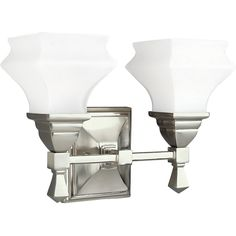 "View the Progress Lighting P3296-09 Bratenahl 2 Light 13.5"" Wide Bathroom Fixture at LightingDirect.com."