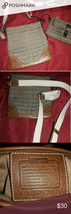 COACH Crossbody bag Coach crossbody bag with brown leather Coach Bags Crossbody Bags