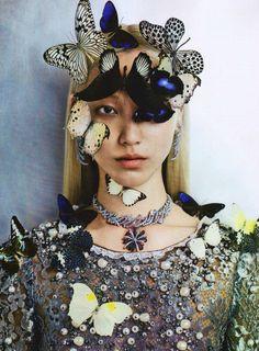 Butterflies ❤️   Soo Joo Park for Vogue Italia