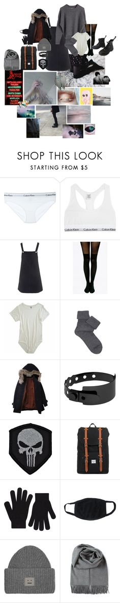 """""""Untitled #328"""" by maximusthepenguin ❤ liked on Polyvore featuring Calvin Klein Underwear, Topshop, Pretty Polly, Off-White, Falke, Vegetarian Shoes, Humör, Cast of Vices, Herschel and Accessorize"""
