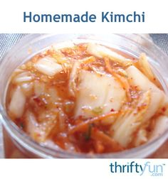 Kimchi is a fantastic Korean pickled cabbage. It's got a great kick, crunch, and happens to be very good for you. It is very low in calories, it helps boost metabolism, and it contains immune and digestion boosting probiotics. Unfortunately, some of the commercial kimchi in the shops can be overloaded with salt and sometimes even MSG. Here is how to make your own at home.