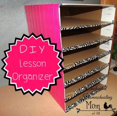 Create your own weekly lesson organizer with this easy to make DIY Lesson Organizer.