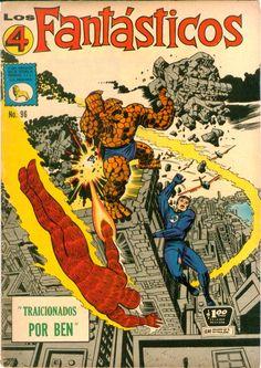 Portada Comics. Los Cuatro Fantásticos. La Prensa 96  Los Cuatro Fantásticos. Número 96. Septiembre 30 de 1968. Editorial La Prensa México. Capítulo: TRAICIONADOS POR BEN.