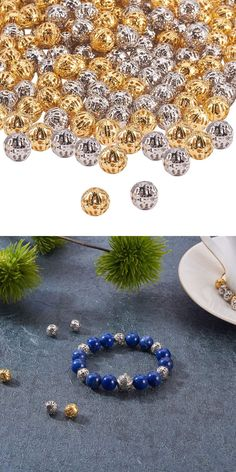 PandaHall Elite About 160 Pcs Brass Crystal Rondelle Rhinestone Spacer Beads Diameter 4-10mm for Jewelry Making Silver
