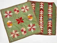 2 Antique Doll Quilts including a Flying Geese Design.