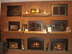 Several of our beautiful Mendota Hearth fronts