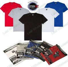 BUY 3 GET 1 FREE CottonNet Men's Luxurious Heavy Weight Crew Neck Tall T-Shirt #CottonNet #BIGANDTALLPLAINTSHIRTS