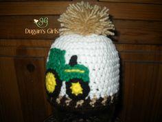 Crochet by Dugan's Girls {Tractor Hat)