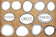 Doodle Circle Frames by Studio Denmark on Creative Market