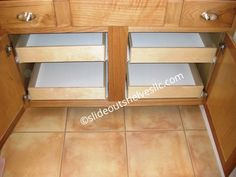Sliding shelf holds your cooking sheets,platters and pan lids upright and organized for easy access slides out of cabinet Kitchen Pull Out Drawers, Kitchen Cabinet Shelves, Hinges For Cabinets, Types Of Cabinets, Kitchen Pulls, Diy Kitchen, Kitchen Ideas, Slide Out Shelves, Sliding Shelves