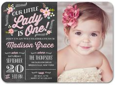 Precious One: Blushing - Birthday Party Invitations in Blushing | Portsmouth Card Co
