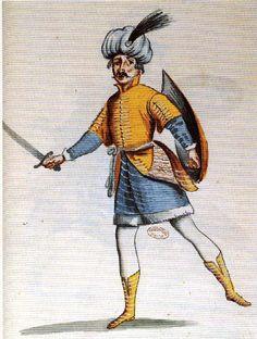 Mollier/Benserade, Ballet Royal de la Nuit, 1653: L'Aventurier (costume design: H. de Gissey)