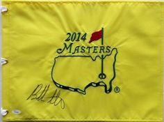 Bubba Watson Signed 2014 Masters Golf Flag JSA L21796