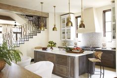 I love wrought iron railings. Worth it? 35 Bright California-Style Kitchens