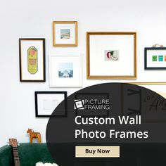 Decorate your home with gorgeous and stylish custom wall photo frames. Picture Frames Online, Personalized Photo Frames, Custom Wall, Decorating Your Home, Photo Wall, Gallery Wall, Stylish, Crafts, Home Decor