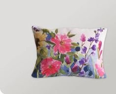 hand-painted pillow from Bluebellgray