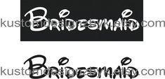 Disney theme Bridesmaid iron on wedding shirt by kustomdesignzbyk, $5.50