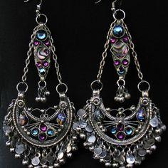 Scarlets Lounge Belly Dance Apparel / Jeweled Afghani Earrings