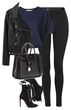 """""""Untitled #1278"""" by lovetaytay ❤ liked on Polyvore featuring Topshop, Yves Saint Laurent, daniel patrick, Giuseppe Zanotti, Acne Studios, Marc by Marc Jacobs and Cartier"""
