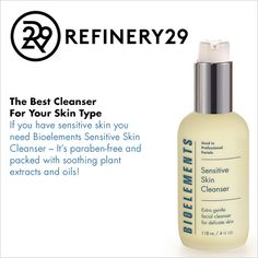 If you have sensitive #skin, you NEED a gentle cleanser. @refinery29  recommends Sensitive Skin Cleanser.