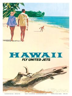 Hawaii - Fly United Jets - United Air Lines Prints at AllPosters.com