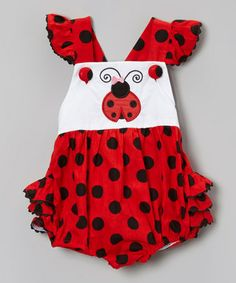 Another great find on #zulily! Red Ladybug Bubble Romper - Infant & Toddler by Smocked or Not #zulilyfinds