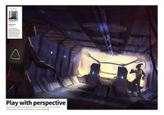 Play with perspective: Juan Novelletto shows how you can use perspective to enhance your sci-fi compositions https://shop.3dtotal.com/magazines/2dartist-magazine/2dartist-issue-122-february-2016-download-only.html