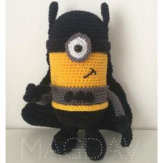 #minion #batman #superhero #crochet #hackovanie #handmade #szydełko #szydełkowanie #instacraft #instacrochet #crochetbymagdav by crochetbymagdav