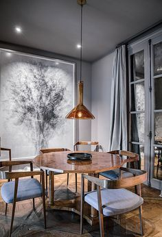 Most Simple Tricks: Painted Dining Furniture Grey dining furniture modern living rooms. Interior Modern, Home Interior, Interior Decorating, Decorating Ideas, Top Interior Designers, Gray Interior, Luxury Interior, Interior Architecture, Boho Living Room