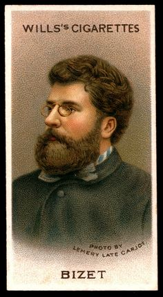 "Cigarette Card. Georges Bizet. ""Musical Celebrities A Series"""