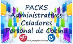 Nuevos packs de cursos para administrativos celadores y personal cocina.