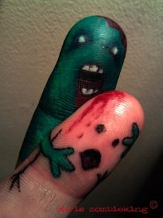 clever. zombie fingers tattoo