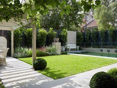 Floral garden bed