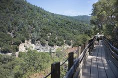 Options for disabled adventurers on rise in California -The wheelchair-accessible Independence Trail, right, skirts the mountain high above a section of South Yuba River State Park near Highway 49 north of Nevada City.