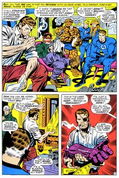 Fantastic Four and Nick Fury by Jack Kirby
