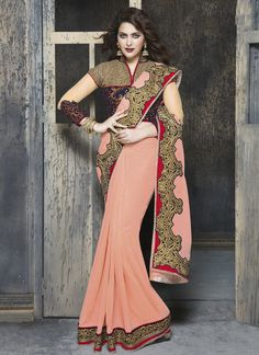 http://www.sareebuzz.in/sarees/epitome-peach-patch-border-work-designer-saree-10861  Epitome Peach Patch Border Work Designer Saree  Item Code: : 10861  Color : Peach  Occasion : Party Festival  Fabric : Georgette  Work : Embroidered Patch Border  For Inquiry Or Any Query Related To Product, Contact :- +91 9974 111 22